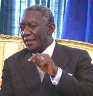 Re-location of Osagyefo Electricity Barge is in the national interest - President Kufuor